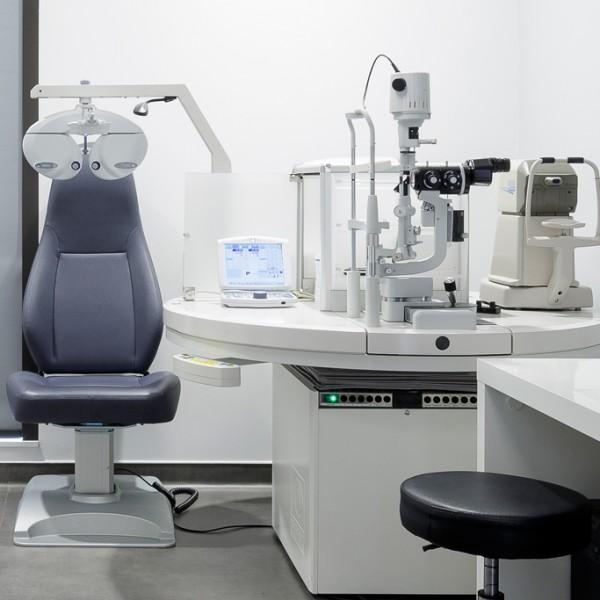 Salle de consultation d'ophtalmologie de la baie de Saint Brieuc